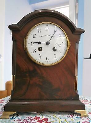 French Mahogany Bracket Clock by Walker & Hall in Good Working Order
