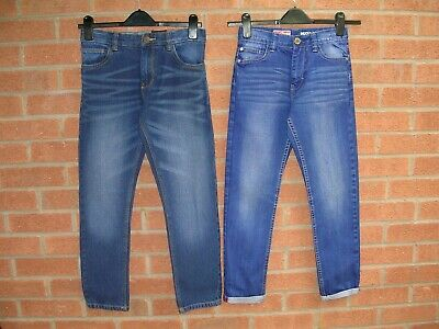 NEXT Boys TWO Pairs Immaculate Blue Denim Jeans Age 11 146cm