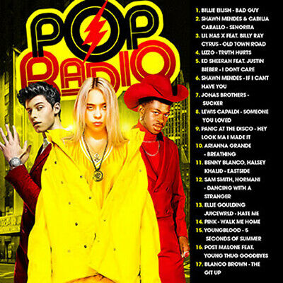 POP RADIO Sept 2019 (Mixtape) CD Shawn Mendes Post Malone Blanco Brown Etc
