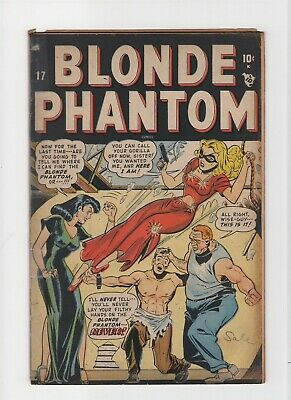 Blonde Phantom #17 VINTAGE Marvel Atlas Comic Bondage Cover Golden Age 10c