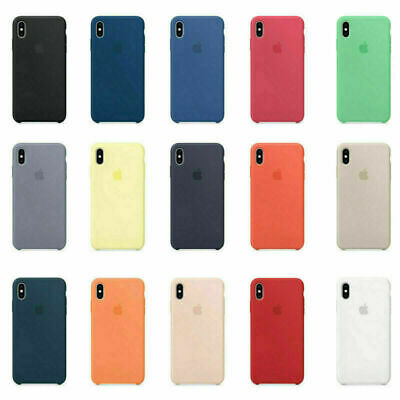 For Apple iPhone X XR XS MAX 8 7 6s Plus Genuine Ultra Slim Silicone Case Cover