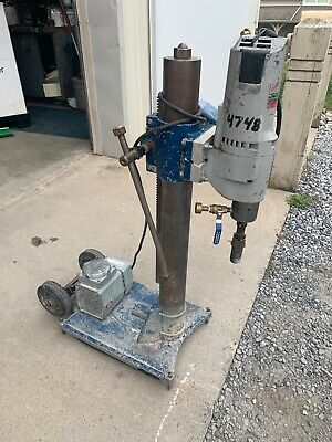 Milwaukee Core Drill W Base And Vacuum Pump Shear Pin Style