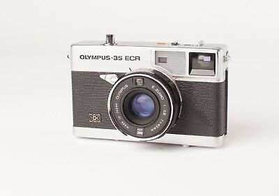 Olympus-35 ECR.  35mm Rangefinder Camera with Auto Exposure and 42mm f2.8 lens.