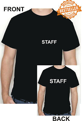 STAFF T-Shirt / Front + Back Print / WORK / BUSINESS / SHOP / PPE / Size Large