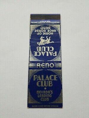 Palace Club Reno Nevada Matchbook Cover