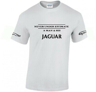 Jaguar funny T-shirt ..Car Enthusiast top..with arm logos novelty gift present
