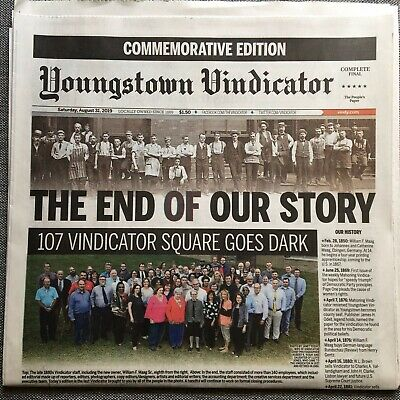 Youngstown Vindicator Vindy Final Edition Newspaper August 31 2019 Oh Ohio Paper