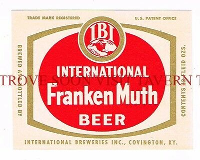 Kentucky International Frankenmuth Covington Beer White 12oz Label Tavern Trove