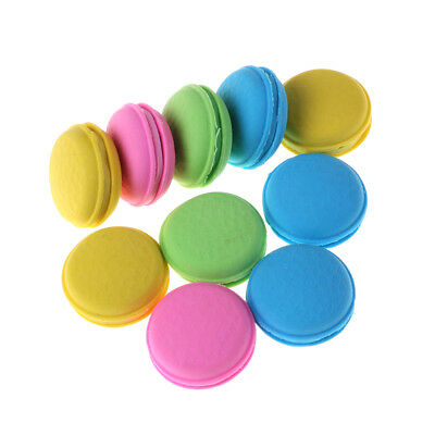 Nice 2Pcs Fashion Cute Macarons Colors Rubber Pencil Eraser Sweet Stationery@.