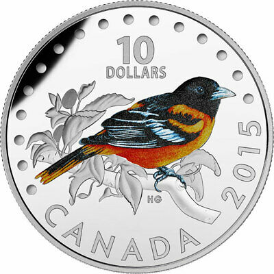 2015 CANADA Baltimore oriole from Songbirds of Canada set - $10 99.99% silver