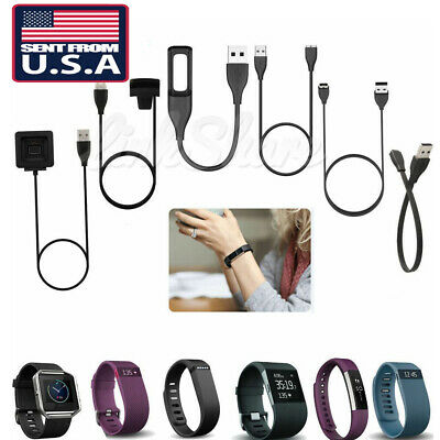 US SELLER USB Charger Cable For Fitbit Alta Blaze Charge HR Surge Force Flex 2 m