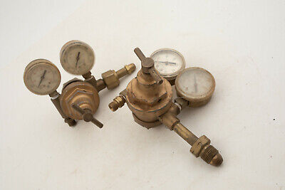 Pair Vintage Craftsmen Welding Regulators (IL1) Acetylene 5-56