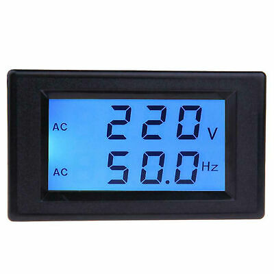 Two-wire Volt Meter LCD Digital AC Voltmeter and Frequency Meter 45.0-65.0hz