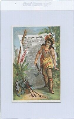 1880s Native American Indian French Trade Card CH. Blanche Exposition Add Card