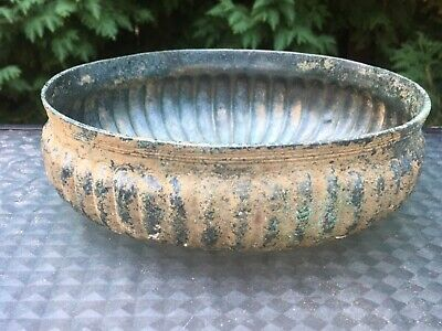 Authentic Luristan Near East Fluted Bronze Bowl #2 CHRISTIE'S Lot EX PISCOPO COL