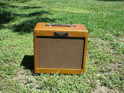 Dark Lacquer Classic Tweed Champ All Tube Amp 5W! Carl's Custom Amps In Stock!