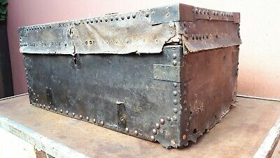 Nice Old Wooden Box with metal corners