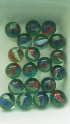 Green Cat/'s Eye Glass Marbles 14mm Marble King Over 50 9//16/""