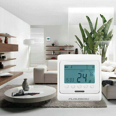 Floureon Digital Temperature Controller Thermostat LCD Display Blue (For home)