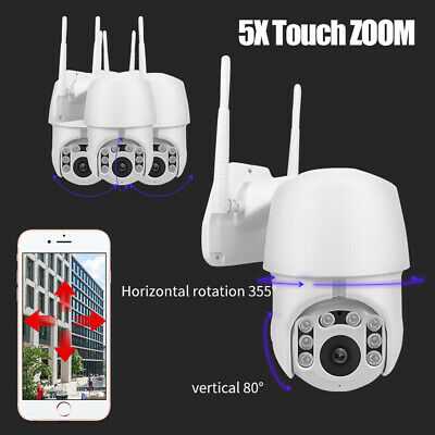 IP66 1080P Outdoor IP Camera CCTV PTZ Dome Security IR Cam WiFi Motion Tracking