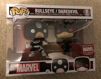 BULLSEYE / DAREDEVIL (FUNKO POP!) 2 Pack Vinyl MARVEL COLLECTOR CORPS BNIN