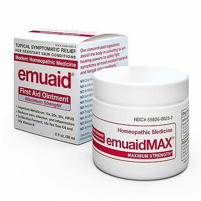 Emuaid MAX First Aid Ointment 2 Ounce Antifungal, Eczema Cream Maximum Strength