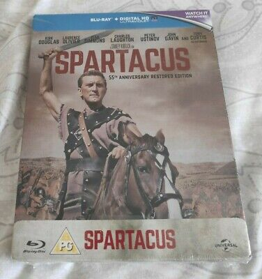 Spartacus 55th Anniversary Blu-Ray Steelbook - Limited Edition - New - OOP