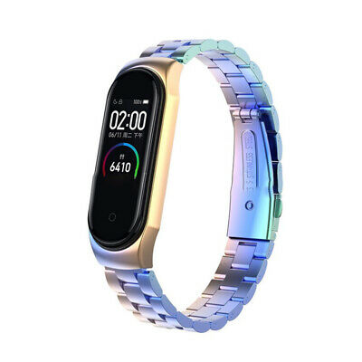 For Xiaomi Mi Band 4 Metal Wrist Bracelet Stainless Steel Replacement Strap 2019