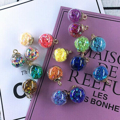 20x 16mm Tiny Star Glass Ball Charms Pendant fit Necklace Hair Jewelry Craft