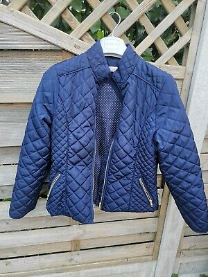 H&M Girls Navy Quilted Jacket Aged EUR164/US 13-14Y