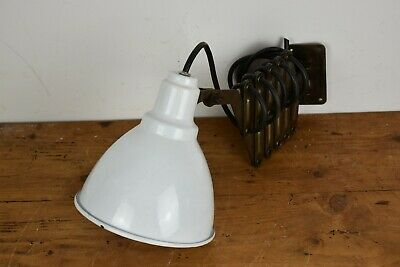 Antike Emaille Lampe/ Wand Lampe/ Scheren Lampe/ Industrie Lampe