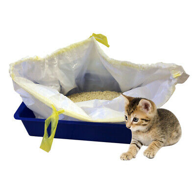 7pcs/pack Cat Litter Tray Box Liners Kitten Hygienic Pet Waste Disposable Bag