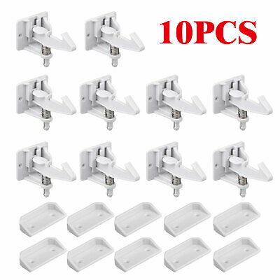 10pcs Cabinet Locks Lock Child Safety Latches Quick Easy Adhesive Baby Proofing