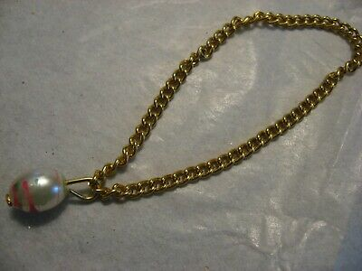 Vintage Barbie Doll Gold Chain & Bead Necklace
