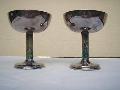 Two excellent Los Castillo silver plate cups or goblets