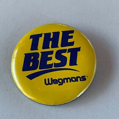 Souvenir Collectible Pin Button Wegmans Grocery Store Rochester NY The Best