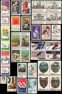 US #1795//1843 MNH 1980 commemorative year set of 35 stamps