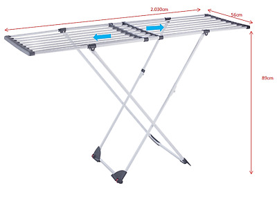 Clothes Drying Rack Smart Extendable Winged Foldable Indoor Drying Line Quality