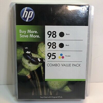 HP Combo Value Pack Original Ink Cartridges 98 Black & 95 Tri Color New EXPIRED