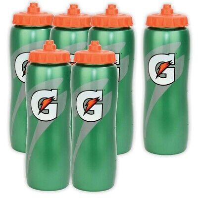 Gatorade 32 oz. Squeeze Water Bottle - All Sport Water Bottle, Team 6 Pack