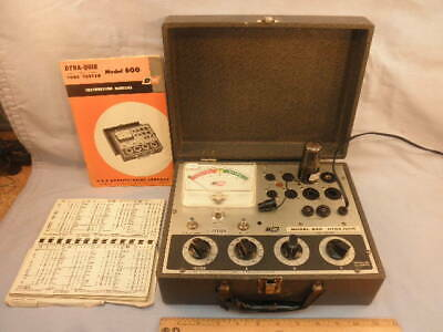 *1961 B&K DYNA-QUICK Model 600 TUBE TESTER & Manual-Working - NR