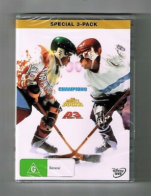 The Mighty Ducks Trilogy (3-Movie Collection) Dvds Disney Brand New & Sealed