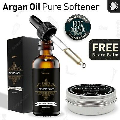 Organic Beard Oil - 100% Pure Unscented Natural Conditioner - with Balm Wax