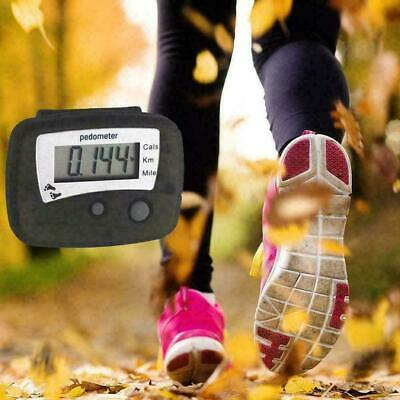 LCD Digital Walking Pedometer Step Distance Calorie Counter Fitness C0M2 N4 M9S0