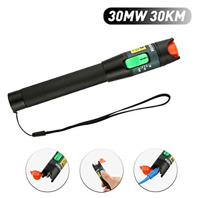 FXWSKY Visual Fault Locator, 30mw 30km VFL Pen Fiber Optic Cable Tester with for