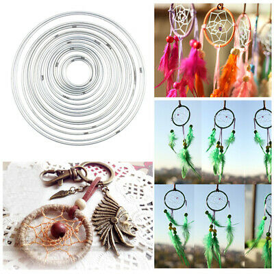 10pcs/lot Metal Dream Catcher Ring Macrame Craft Hoop Handmade Set Tool 45-190mm