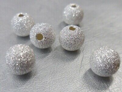 🎀 3 FOR 2 🎀 Silver Round Stardust Spacer Beads 3mm 4mm 6mm  4 Jewellery Making