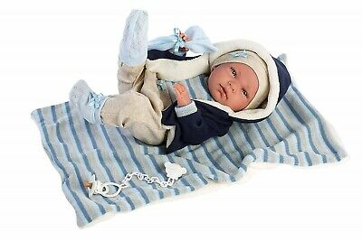 Llorens Doll Baby Jack Infant Boy with Blanket 40cm New 73857