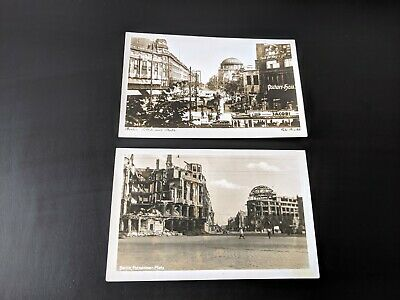 Ww2 Rp Postcards Potsdamer Platz Berlin 1939 & 1945 Before & After Destruction