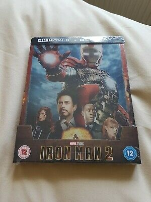 Iron Man 2 4K Ultra HD +  2D Blu-ray Steelbook Brand New
